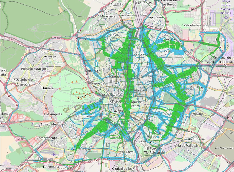 Mapa Zona Azul Y Verde Madrid.Mapa Zona Azul Madrid Mapa