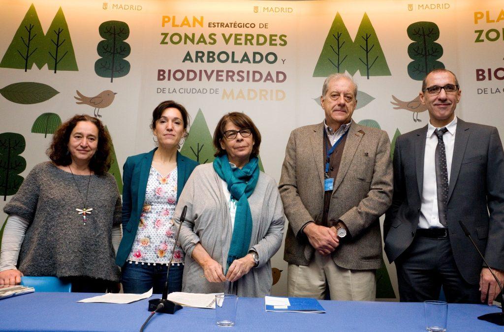 Presentación del Plan Estratégico de Zonas Verdes, Arbolado y Biodiversidad del Ayuntamiento de Madrid