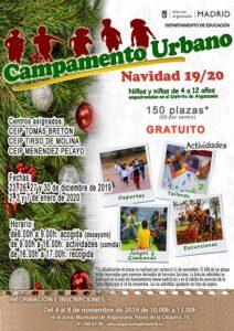 Campamento urbano Navidad 2019 en Arganzuela