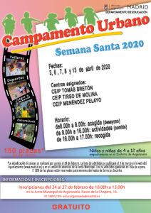 Campamento urbano Semana Santa 2020 Arganzuela