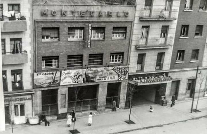 Fachada del cine Montecarlo ( calle Embajadores, 152) 1962