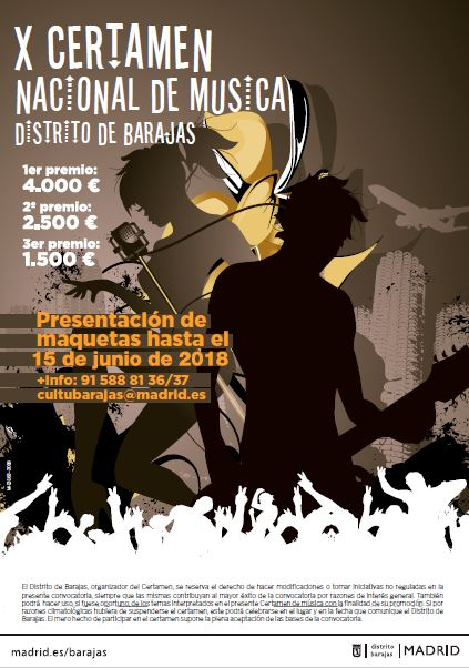 Cartel X Certamen Nacional de Música Distrito de Barajas
