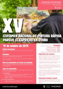 XV Certamen Nacional de Pintura Rápida Parque de El Capricho en Otoño