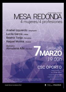 Mesa redonda '4 mujeres / 4 profesiones' Carabanchel
