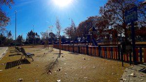 Zona estancial en parque Corazón de María