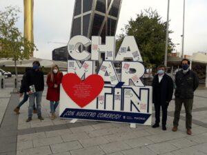 La concejala de Chamartín, Sonia Cea y representantes de las asociaciones de comerciantes de Chamartín