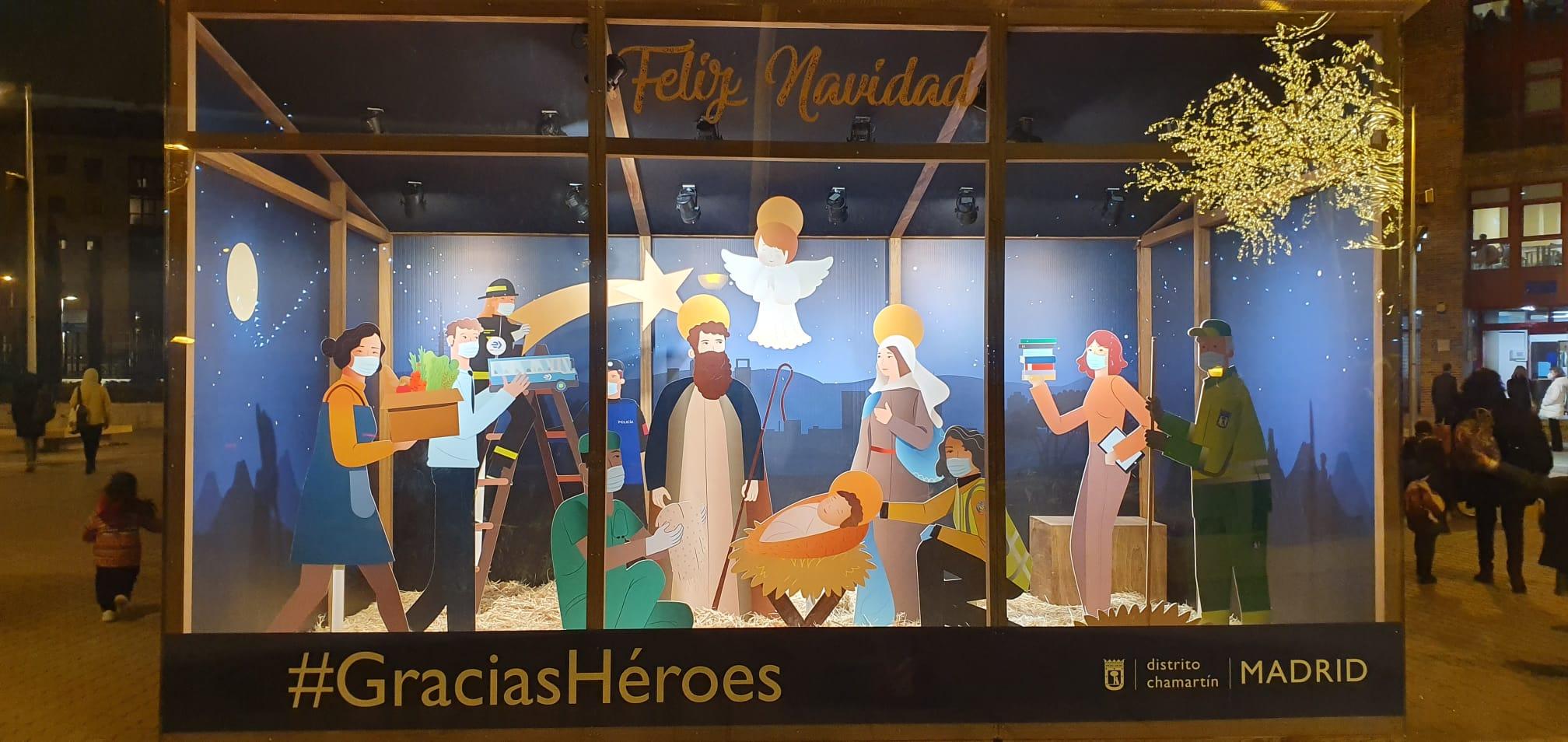 """Belén """"Héroes de la Navidad"""" en Chamartín"""