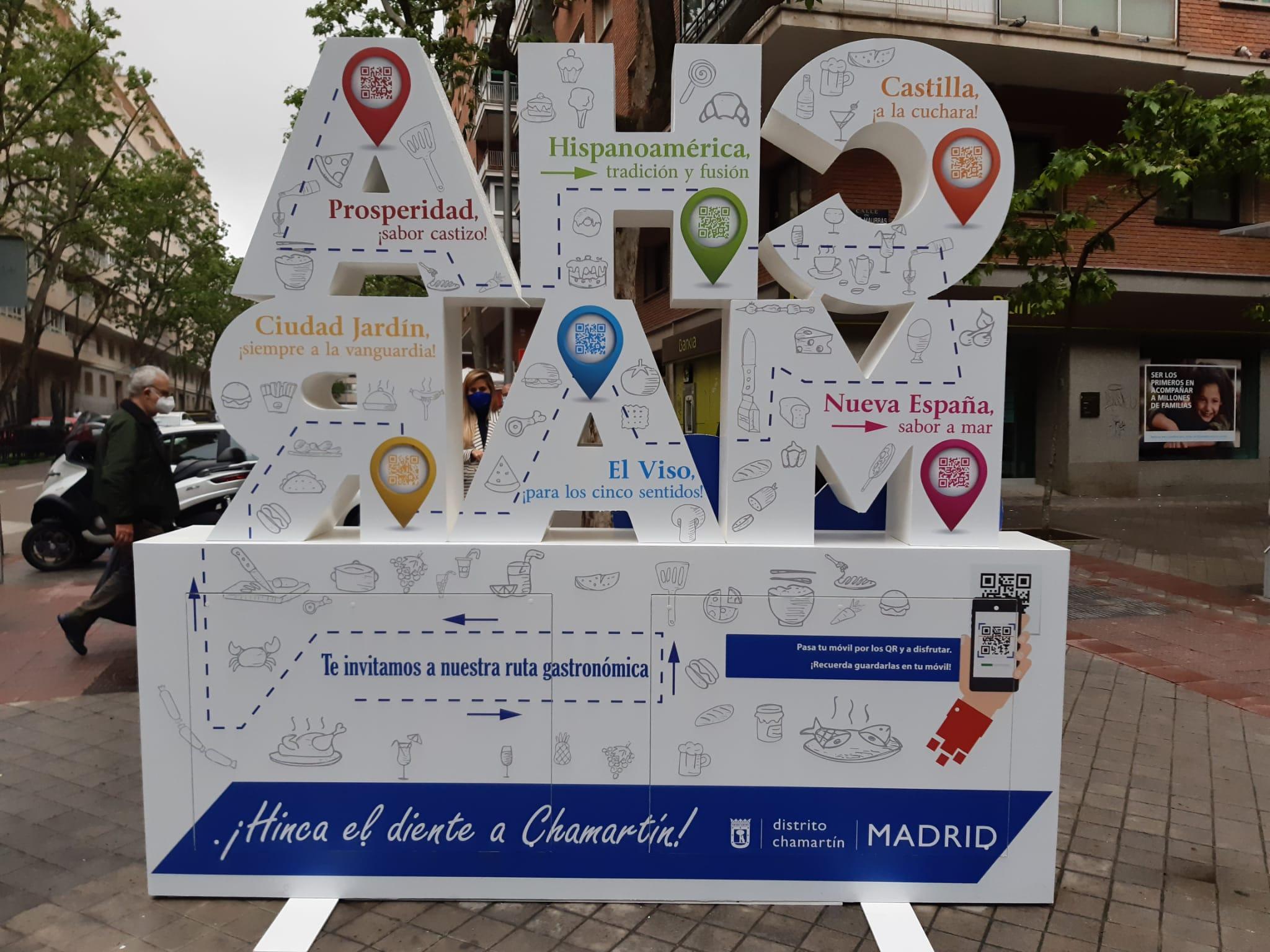 Tótem interactivo comercio y hostelería Chamartín