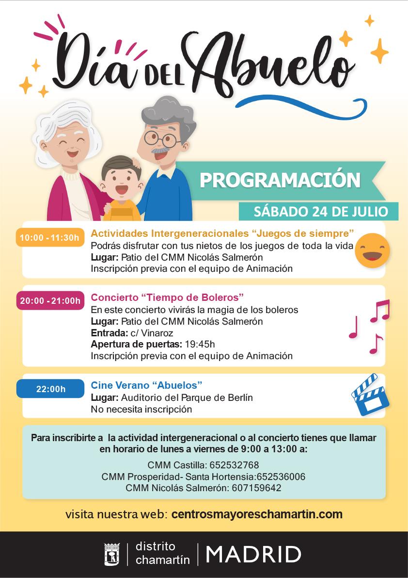 Cartel Día del Abuelo. Distrito Chamartín