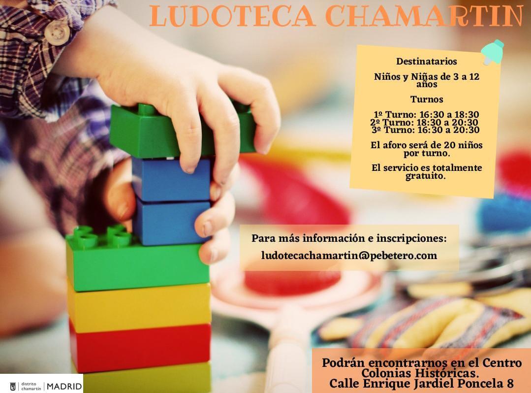 Cartel ludoteca municipal Chamartín