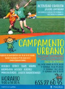 campamento urbano deportivo Chamberí 2019