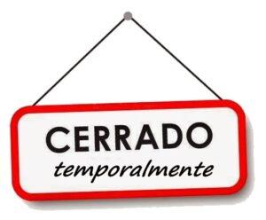 SUSPENSIÓN DE ACTIVIDADES PRESENCIALES por CIERRE DEL PARQUE