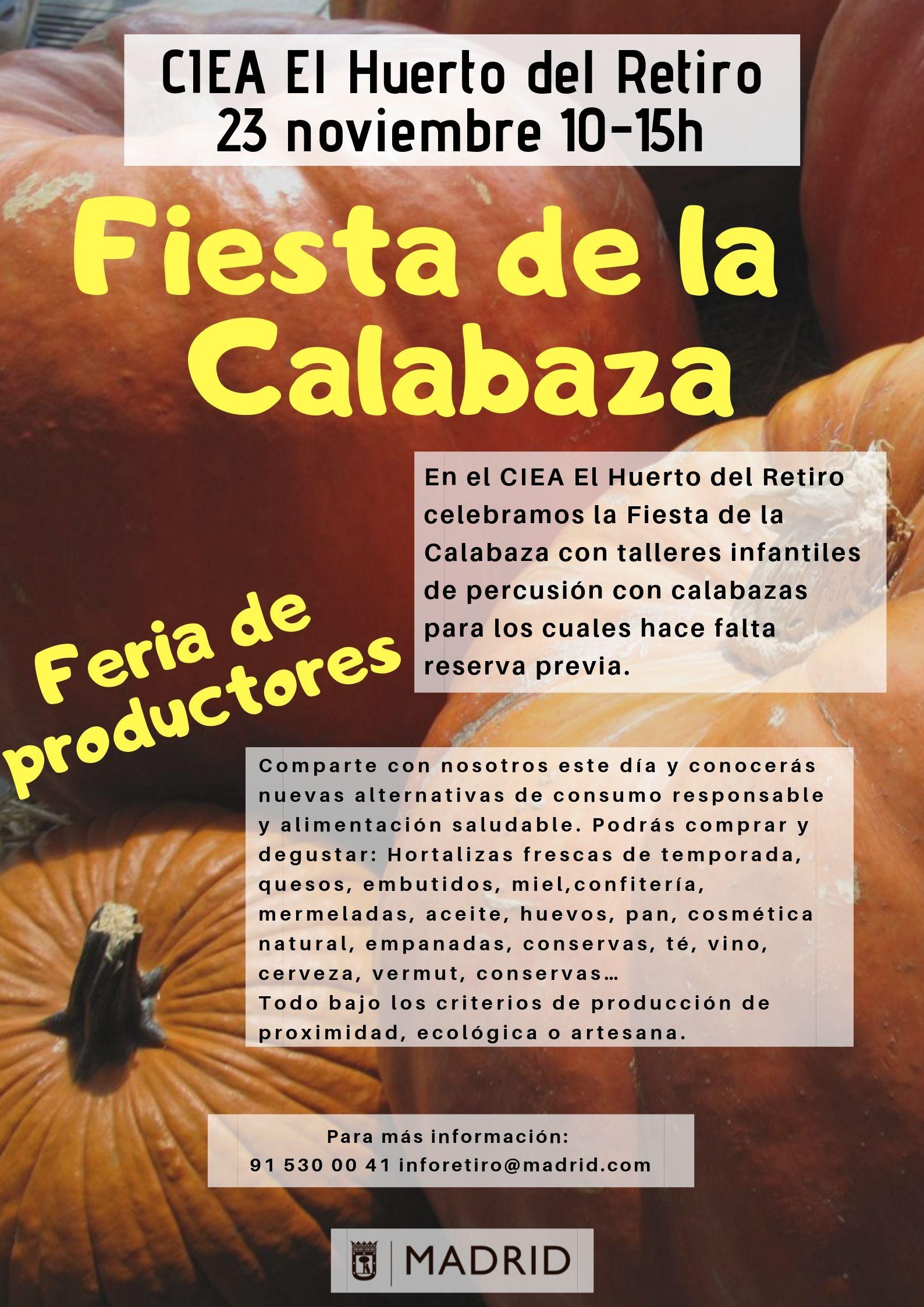 Fiesta de la Calabaza. CIEA El Huerto del Retiro