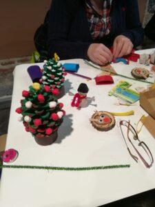 Taller de decoración navideña