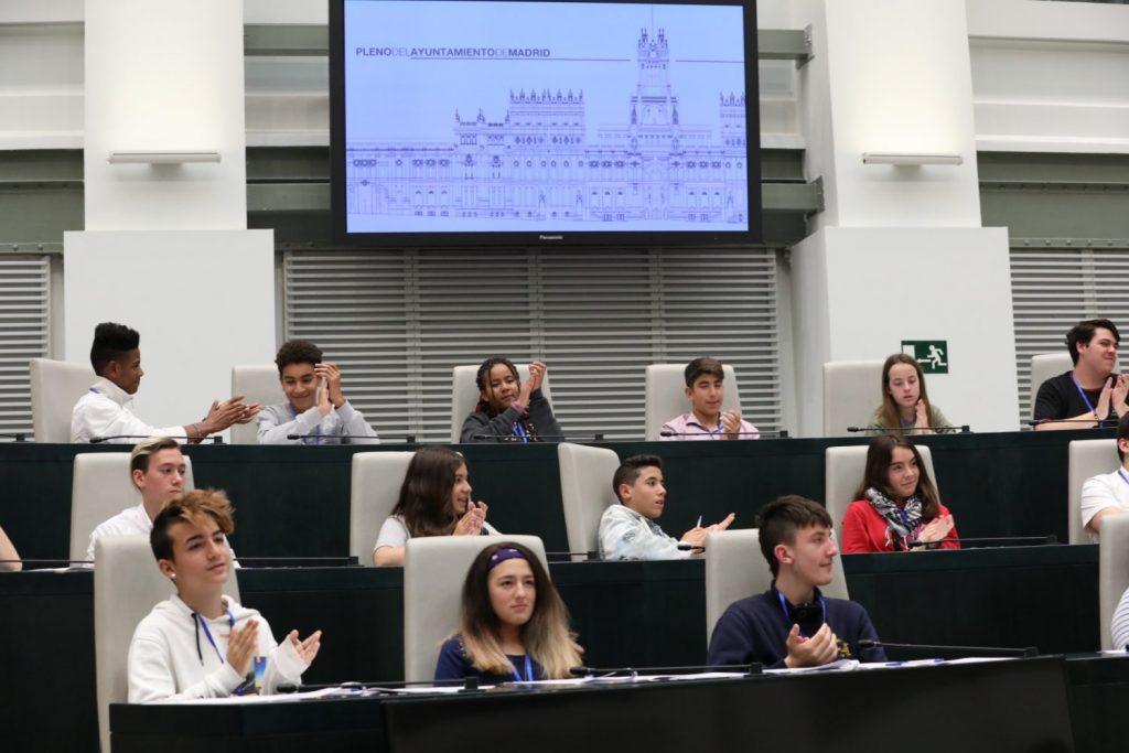Imagen del pleno de adolescentes celebrado en junio de 2017