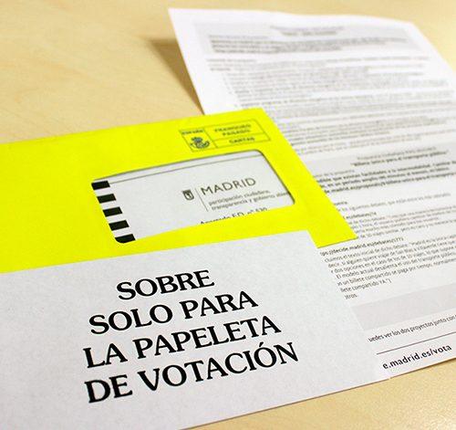 Cartas enviadas a la ciudadanía para la primera votación ciudadana.