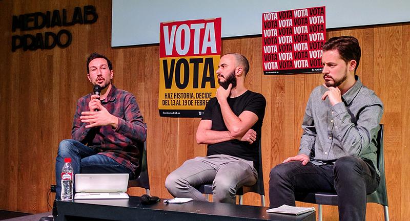 Debate en Medialab de las propuestas ciudadanas Madrid 100% sostenible y Billete único para el transporte público.