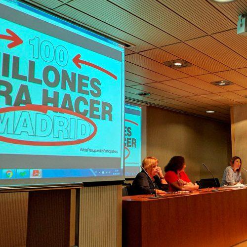 Taller para Voluntarios por Madrid de presupuestos participativos 2017