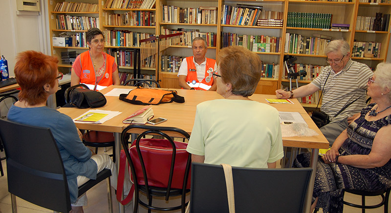Un momento de la clase sobre presupuestos participativos de Decide Madrid.