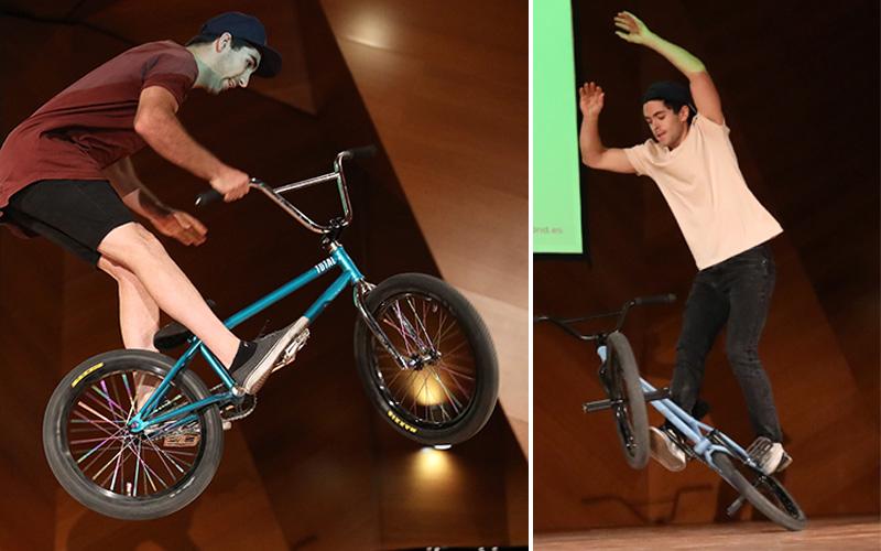 Manolín y Varo Hernández. riders de BMX