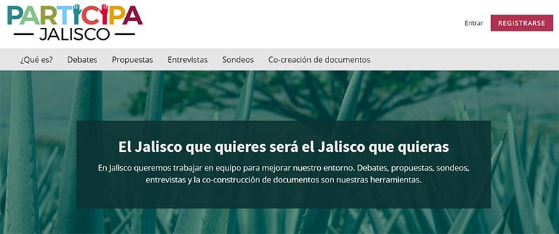 Web de Participa Jalisco