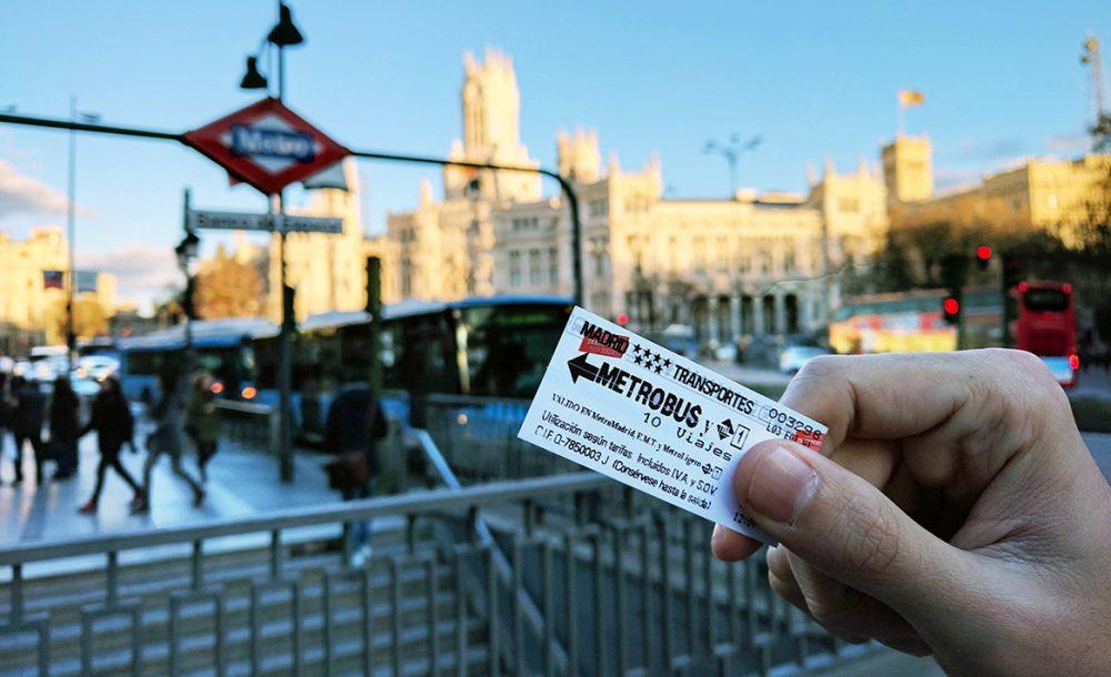 """Imagen de un billete de metro, en referencia a la propuesta ciudadana aprobada en Madrid de """"Billete único para el transporte público"""""""