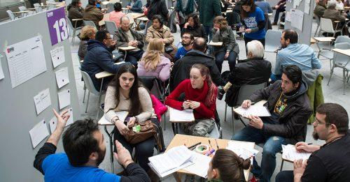 Encuentro G1000 sobre presupuestos participativos en Madrid en 2017.