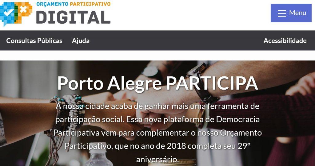 Imagen de la web Porto Alegre Participa.