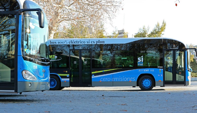 Autobuses 'cero emisiones' de la EMT Madrid.