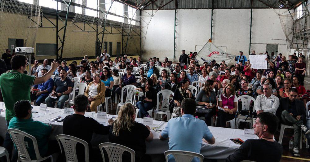 Foro de presupuestos participativos de la región Humaitá-Navegantes de Porto Alegre. Foto: Joel Vargas/PMPA