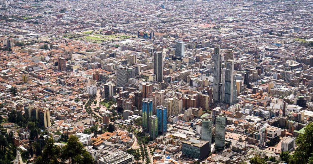 Imagen de Bogotá desde el Cerro Monserrate