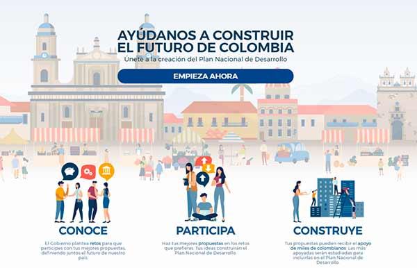 Portada de la plataforma Pacto por Colombia, Pacto por la Equidad.