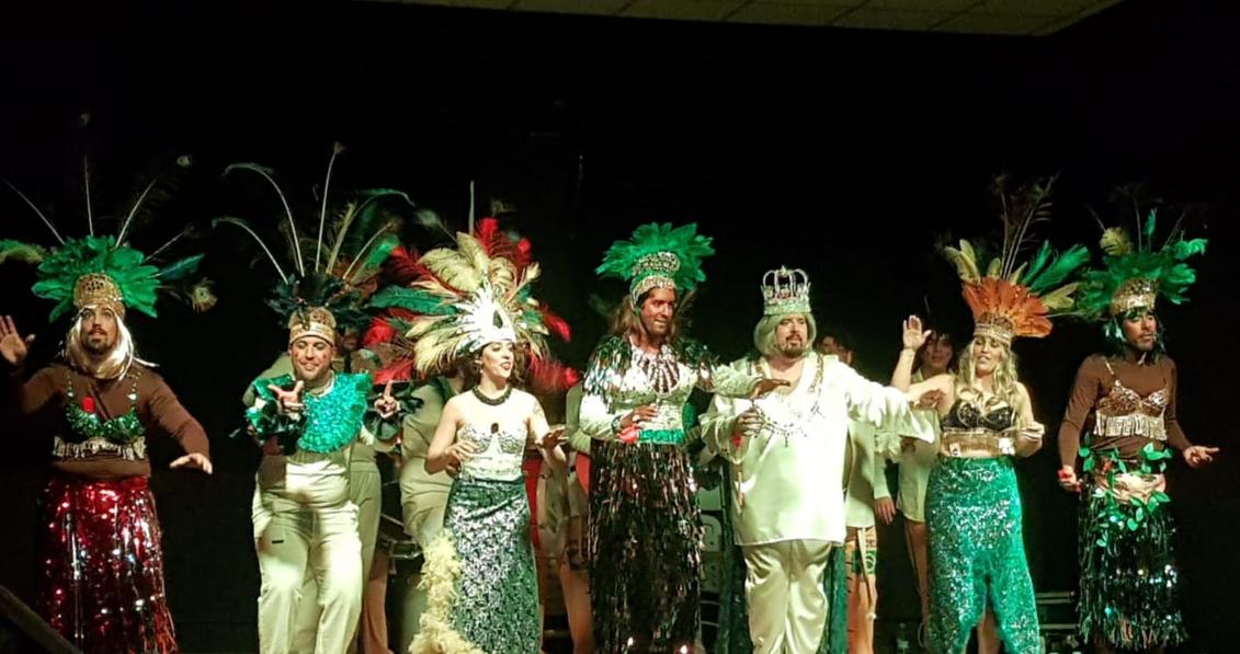 Actuación de La Chirigota de Madrid en carnaval de Madrid 2020