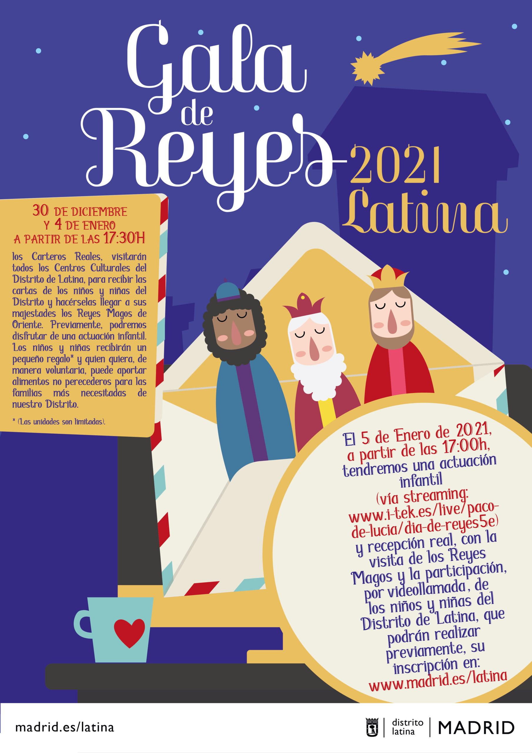 Cartel Reyes Magos 2021 en Latina