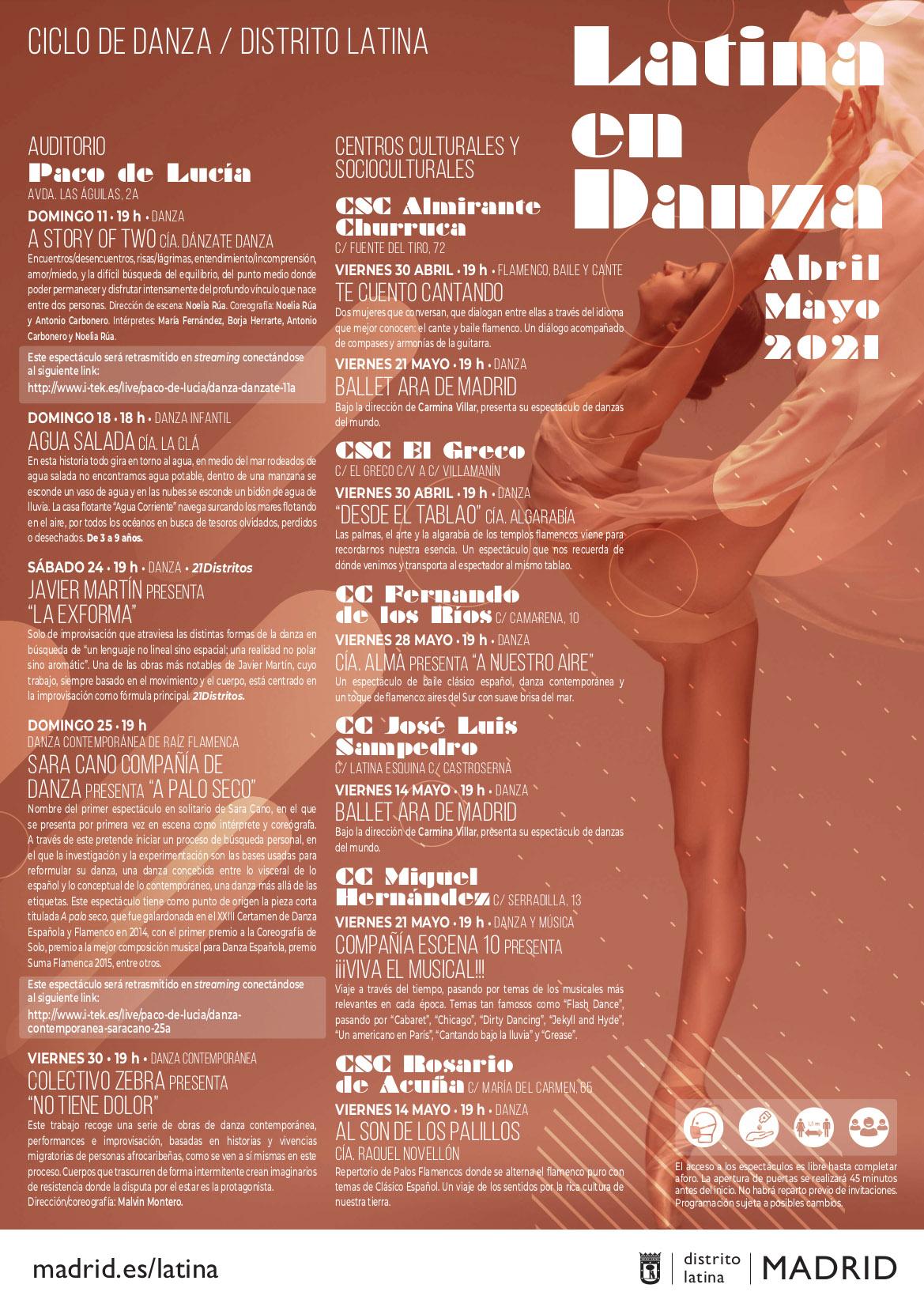Cartel ciclo 2021 Latina en Danza