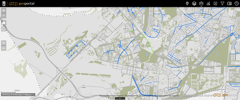 Geoportal Operación Asfalto 2021 Ayuntamiento de Madrid