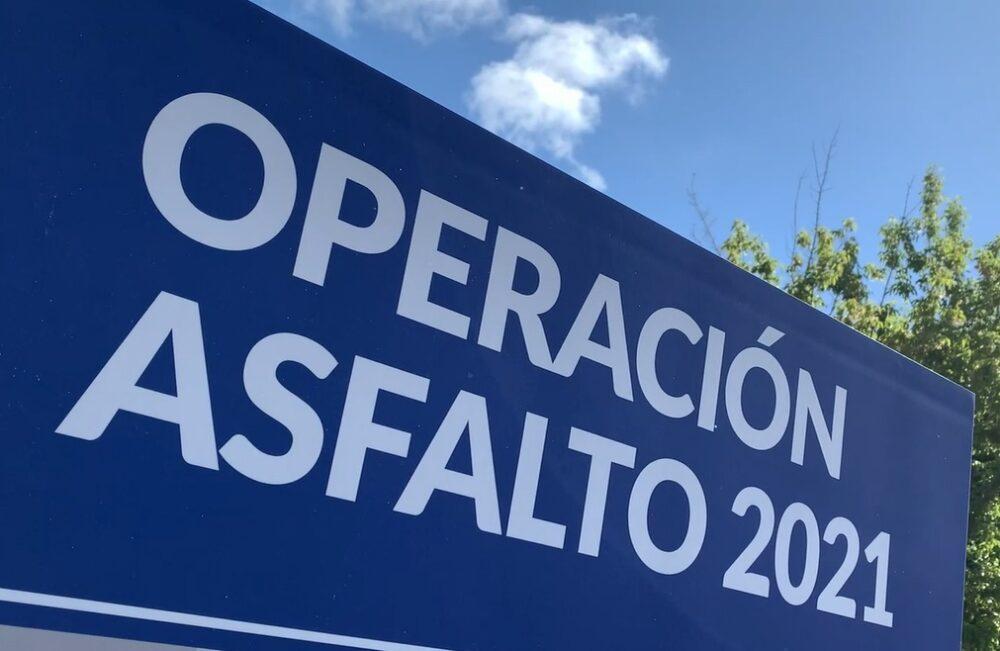 Operación Asfalto 2021. Señalética