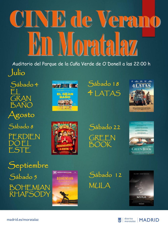 Cartel Cine Cuña Verde Moratalaz