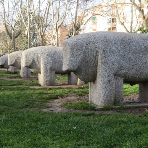 Réplica Toros de Guisando en Parque Moratalaz