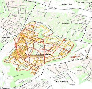 Mapa de la limpieza en el Distrito Puente de Vallecas