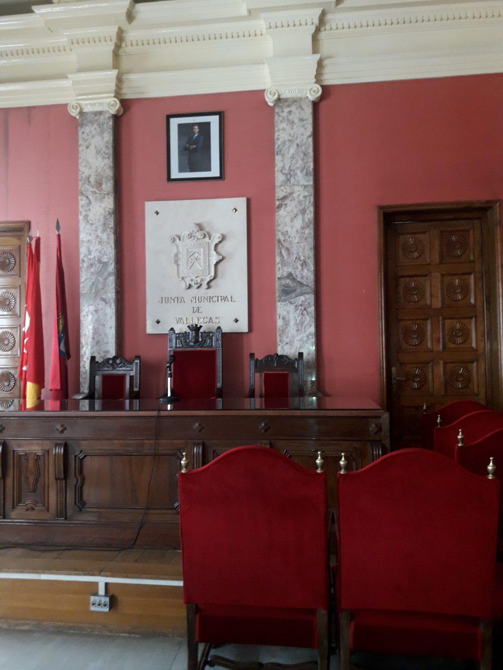 Salón del Pleno del Distrito Puente de Vallecas