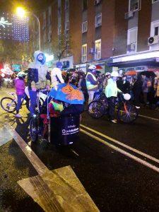 Grupos ciclistas demuestran que el transporte sostenible es importante también en la Cabalgata