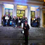 Música en la Junta Municipal de Puente de Vallecas, esperando a los Reyes Magos