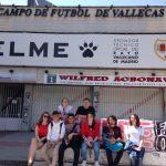Jovenes europeos combinan arte y valores europeos en Vallecas