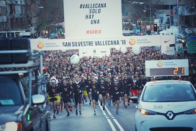 Inicio de la San Silvestre Vallecana 2018