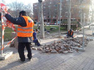 Los talleres de Vallecas Labora han realizado las obras de reparación de los caminos de este parque