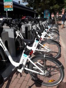 Biciclitas estacionadas
