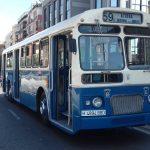 Exhibición de autobuses antiguos