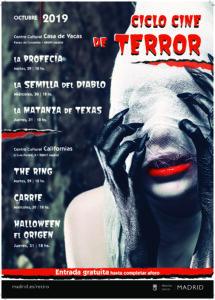 Ciclo cine de terror octubre 2019 distrito Retiro