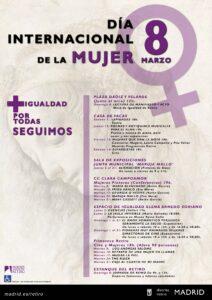 Día Internacional de la Mujer en el distrito Retiro